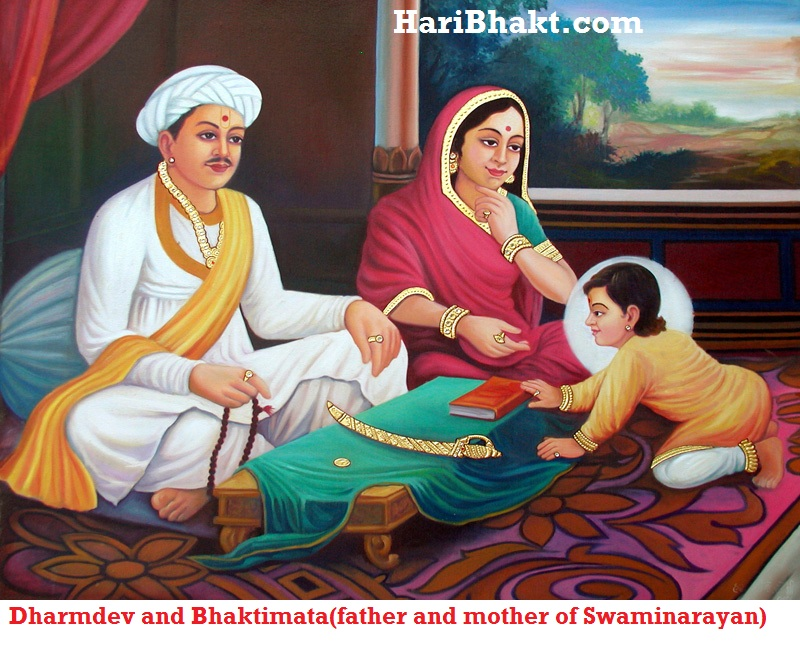 Dharmdev and Bhaktimata (father and mother of Swaminarayan)