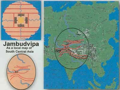 Vedas Milky Way: Srimad Bhagwadtam: Jambudvipa South East Asia, Bharat Map