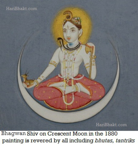 Crescent moon a Hindu Symbol adopted and copied by anti-Vedic muslims
