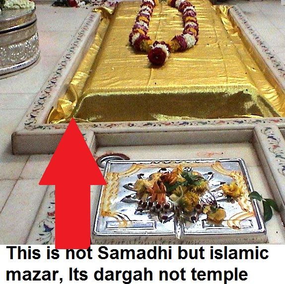 fake samadhi its mazar in shridi sai dargah not temple