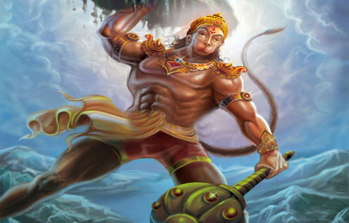 RamBhakt Hanuman with Bhagwan Shree Ram
