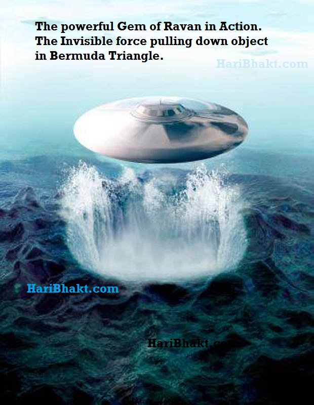 Bermuda Triangle Invisible force of Ravana Gem Mani That was Placed by Hanuman ji