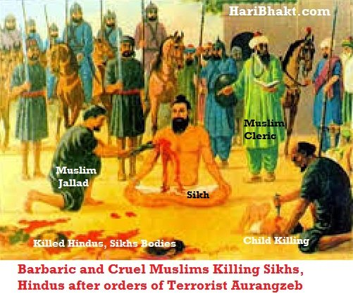 Cruel Muslims Killing Hindus, Sikhs under aurangzeb