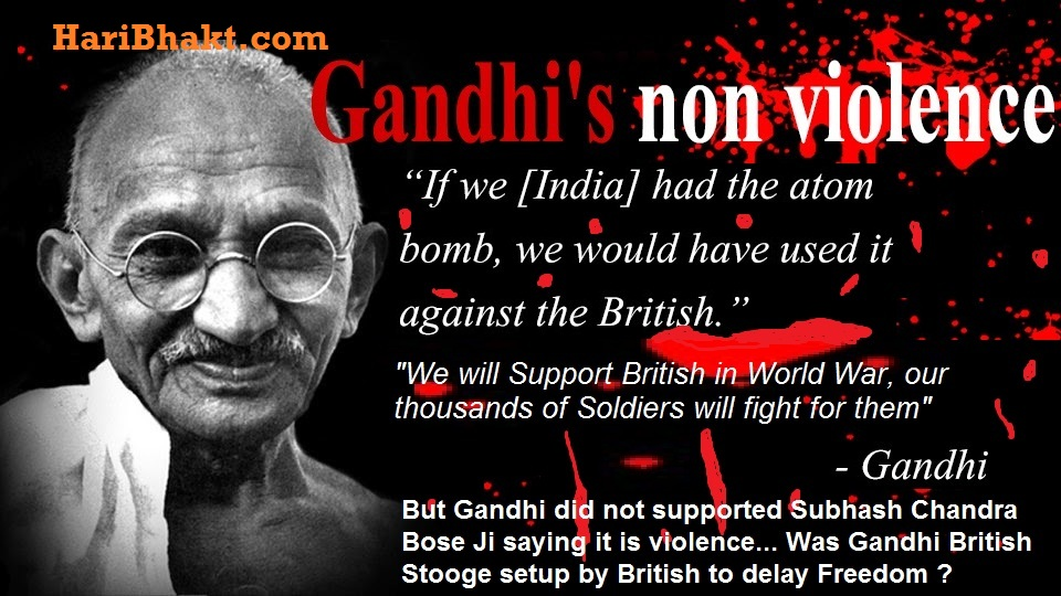 gandhi was violent he supported armed war of british