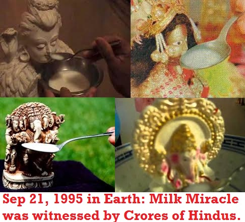 September 21, 1995 - Milk Miracle of Hindu Gods