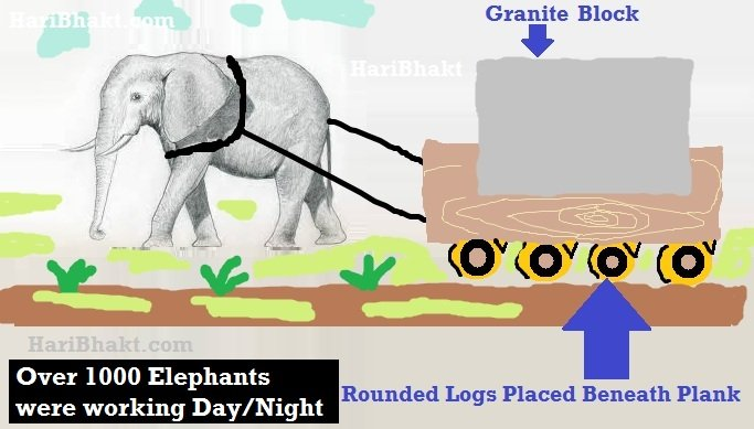 RajaRaja Chola used elephants, animals to pull the granite stone from 50 miles away