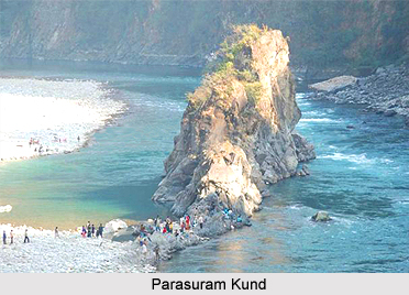 Parshuram Kund is located on Lohit River and 21 km north of Tezu in Lohit district of Arunachal Pradesh
