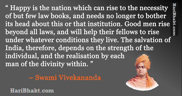 Swami Vivekanand on Unity of Indians, Hindus and Leadership