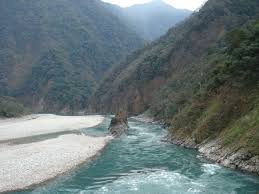 Parshuram Kund Mountain on Brahmaputra region at the Lohit River