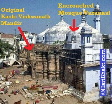 Hindu Temples were demolished by Muslim attackers in India and Mosques were build over them