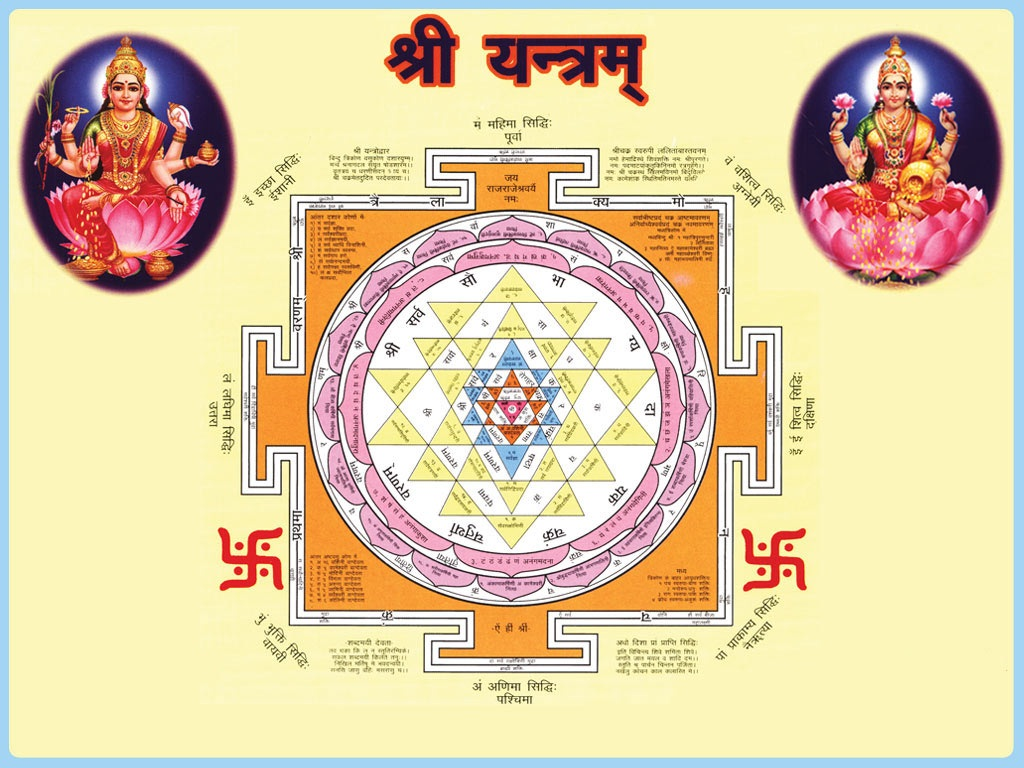 Vedic Hindu Design Yantra Controlling Positive Energies Gifted by The Creator During Creation