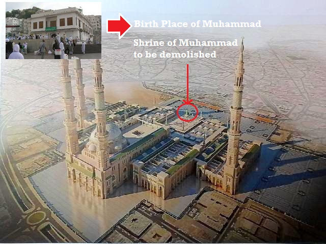 muhammad's shrine birth place destruction in saudi