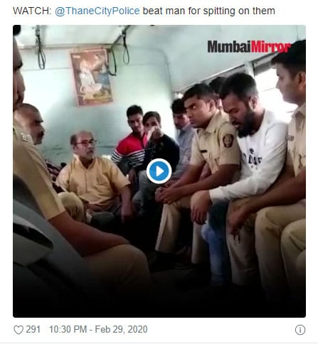 Criminal Muslim spit on Hindu cops