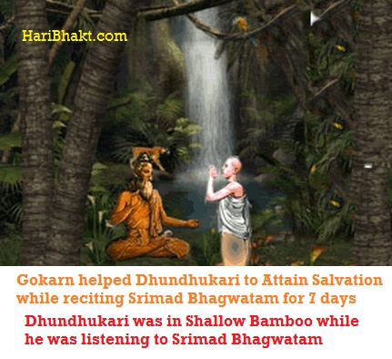 Gokarn performed yagna of Srimad Bhagvatam to liberate several people and Dhundhukari from this world to Vaikunth
