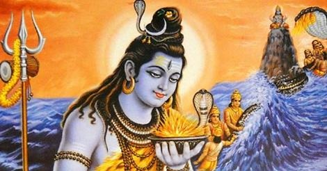 Bhagwan Shiv drinking poison to protect Universe