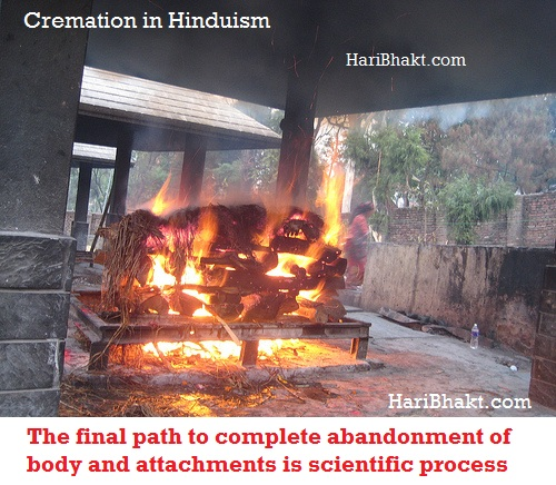 Cremation in Hinduism is the best practice for paying homage to dead person