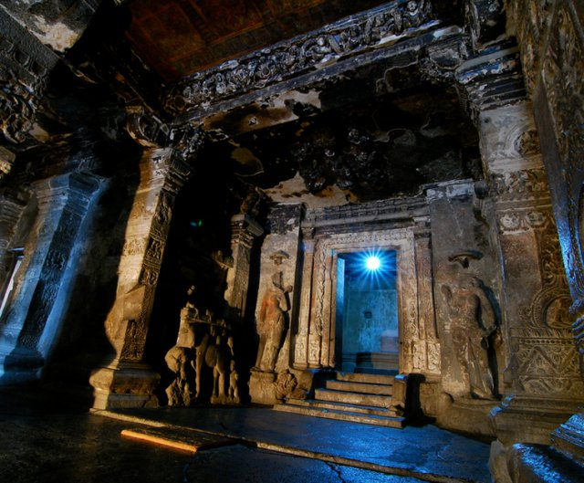 Kailash Temple Ellora at Night