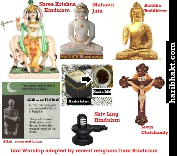 Every religion of this world directly/indirectly advocates idol worship of Hinduism