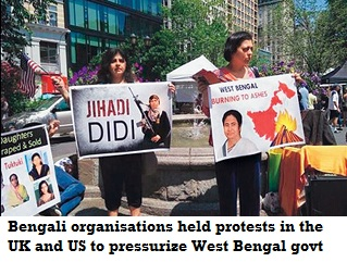 Bengali organisations holding protests in the UK and US to put pressure on the state government