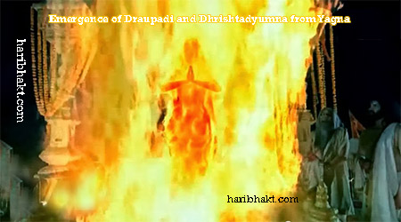 Birth of Dhrishtadyumna and Draupadi from Yagna