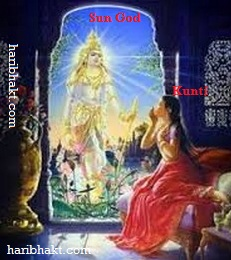 Birth of Karna by Kunti and Sun God