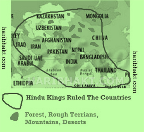 Hindu Kings Ruled 80% of the inhabited World Population Just 2800 Years Back!