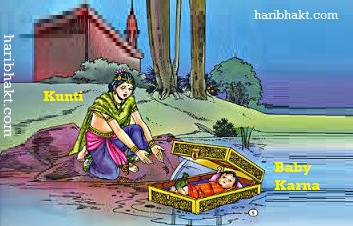 Kunti Sending Karna in Floating Casket on Ganga