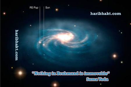 Moving Sun and Movement of Galaxy mentioned in Hindu Texts Vedas 10000 years ago