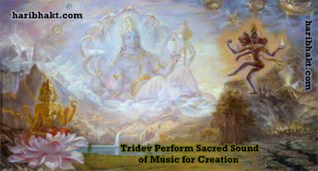Music of creation and balance by Vedic gods