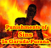 Misers treated painfully in hell in Garuda Puranam