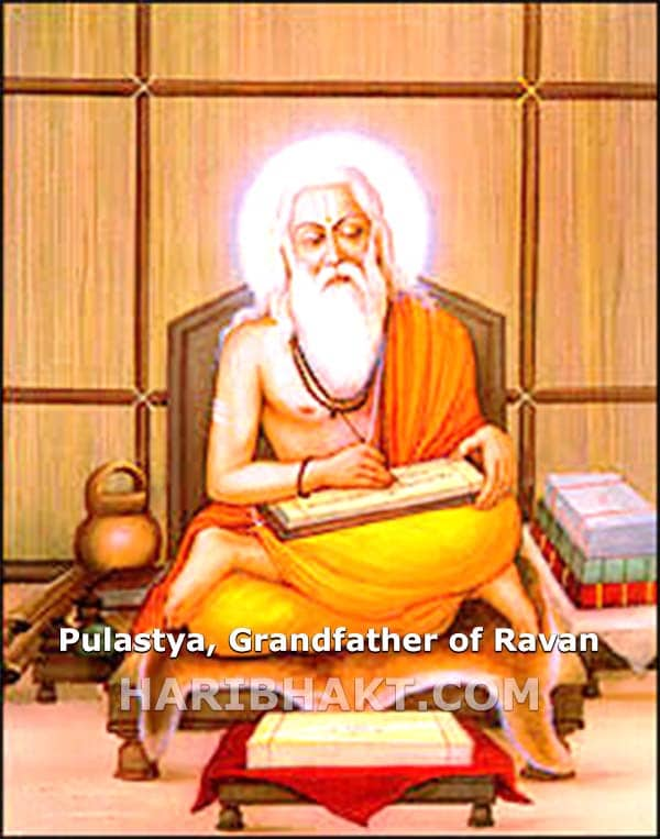 Ramayana facts Pulastya Grandfather of Ravana