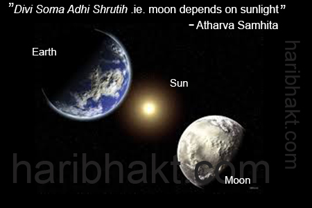 Sun giving light to Earth and Moon is mentioned in Atharva Samhita