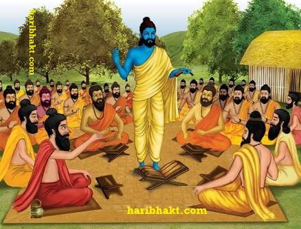 Vedic Guru teaching other rishis