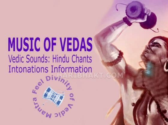Vedic Sounds and Hindu Chants Music Notes with Intonations Information