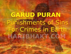Punishments of Garuda Purana for sinners in hell, for crimes, sins in earth
