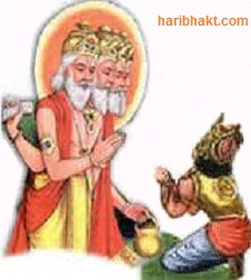 Hiranyakashipu praying Brahma for immortality boon