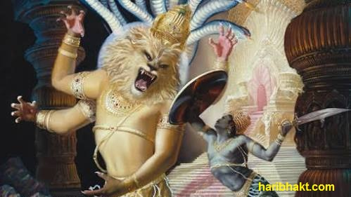 Narasimha attacking Hiranyakashipu