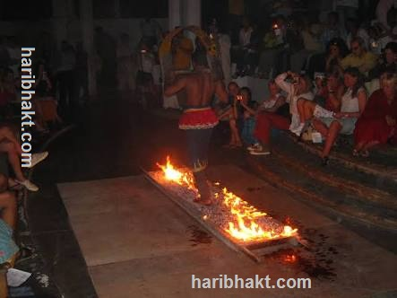 Sadhu walking on fire