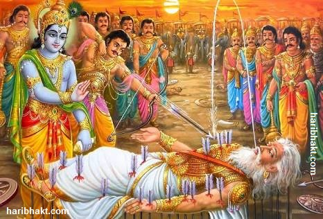 bhisma death on krishna's feet
