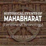 Events, Incidents of Historical Mahabharat with Timelines