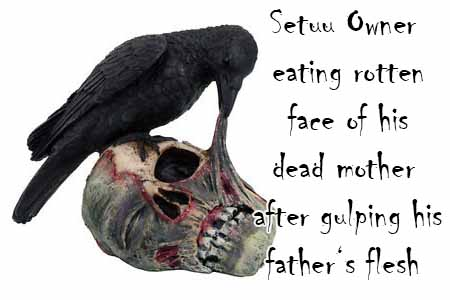 If Setuu organisation people are hungry they should eat dead rats and rotten dead bodies of their relatives
