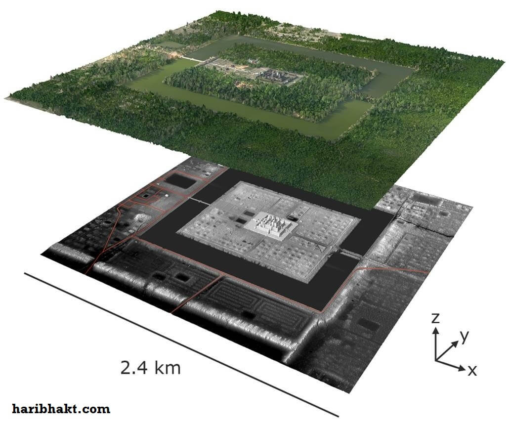 angkor wat 2point4 Km laser view lidar image