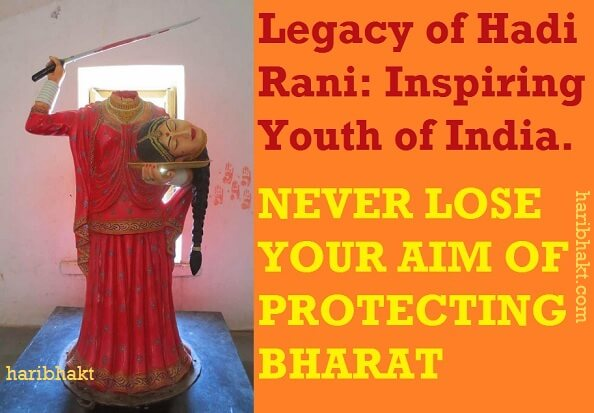 Hadi Rani, Hindu woman's love for Bharat and Mother land is inspiration for youth of India