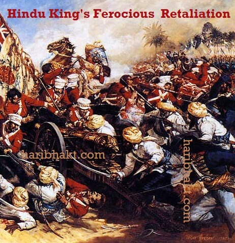 Hindu king Yashwant Rao Holkar killing british to defeat