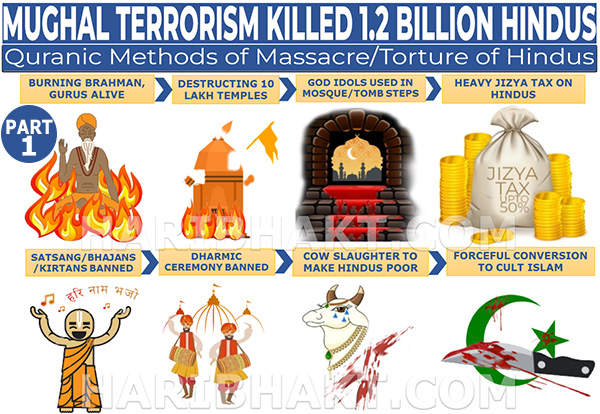 Mughal Terrorism: Massacre, Killing and Torture of Hindus Part 1 infographic