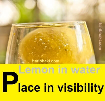 lemon in water for evil eye treatment