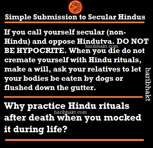 secular hindus secularists liberal cowards leftists