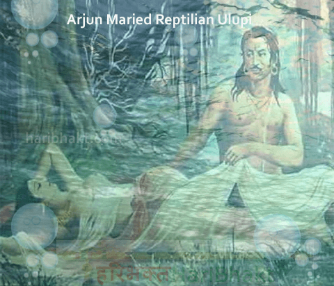 Arjum marrying Ulupi is Human marriage to Reptilian Naga Princess