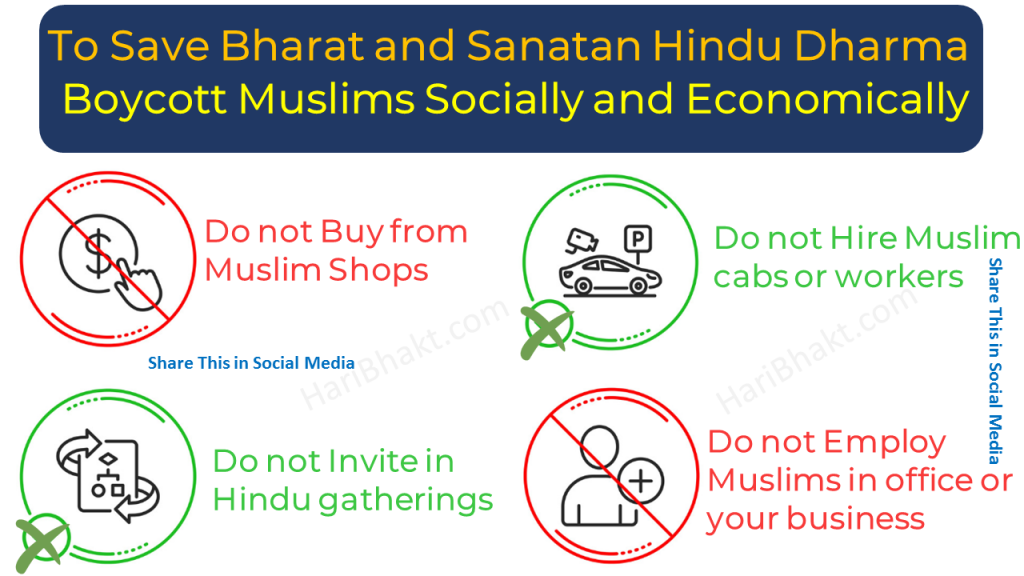 Hindus Boycott Muslims Socially and Economically for Bharat