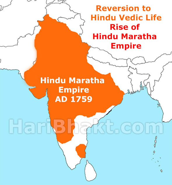 Hindu Maratha Empire due to Aggressive Hindutva